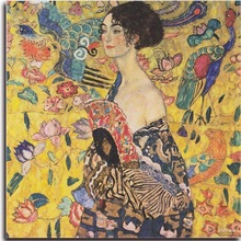 Lady with fan Diamond embroidery Gustav Klimt DIY mosaic pictures of rhinestone  Painting hobby crafts HL114