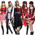 Purim carnaval de halloween adulto mujer traje de pirata del caribe piratas disfraces fancy dress ropa cosplay para las mujeres