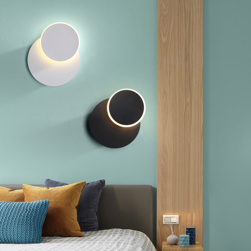 Modern Wall Lamp Bedroom Vanty Wall LED Light Fixtures Creative Round Sconce Lamps Wandlamp Square White Black Stair LampsModern Wall Lamp Bedroom Vanty Wall LED Light Fixtures Creative Round Sconce Lamps Wandlamp Square White Black Stair Lamps