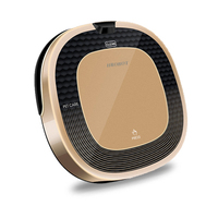 D5500 in white or gold color robotic vacuum cleaner robot sweeper dry wet mop with water tank