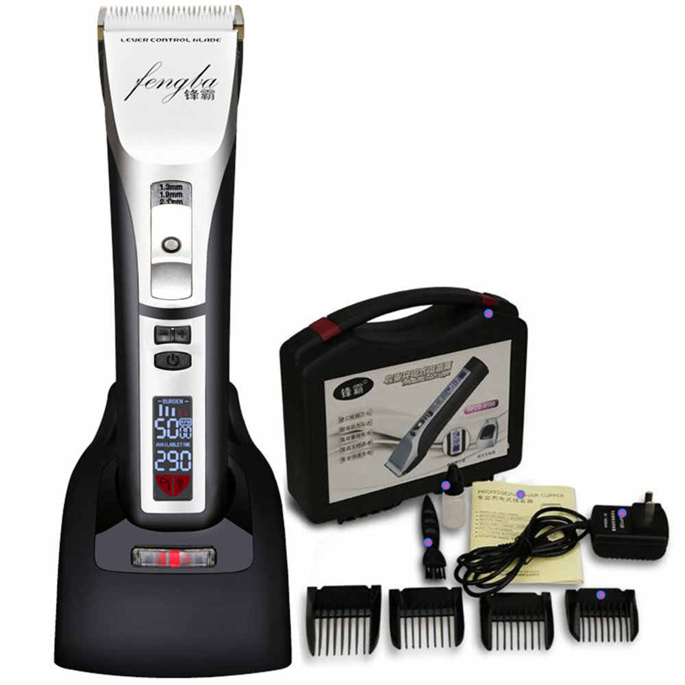 Professional Electric Men's Hair Clipper LED Show Rechargeable Hair Trimmer For Salon Barber Hair Cutting Machine Speed Control