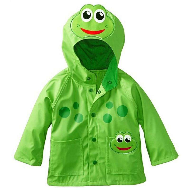 US $13 57 43% OFF|Boys Girls Cartoon Trench Coat Frog Beetles Design Rain  Coat Waterproof Spring Autumn Hooded Jacket Bolero Clothes Regenmantel-in
