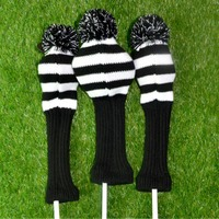 3pcs Set Golf Club Head Covers Wool Knit Golf Clubs Set Driver 3 5 Fairway Wood