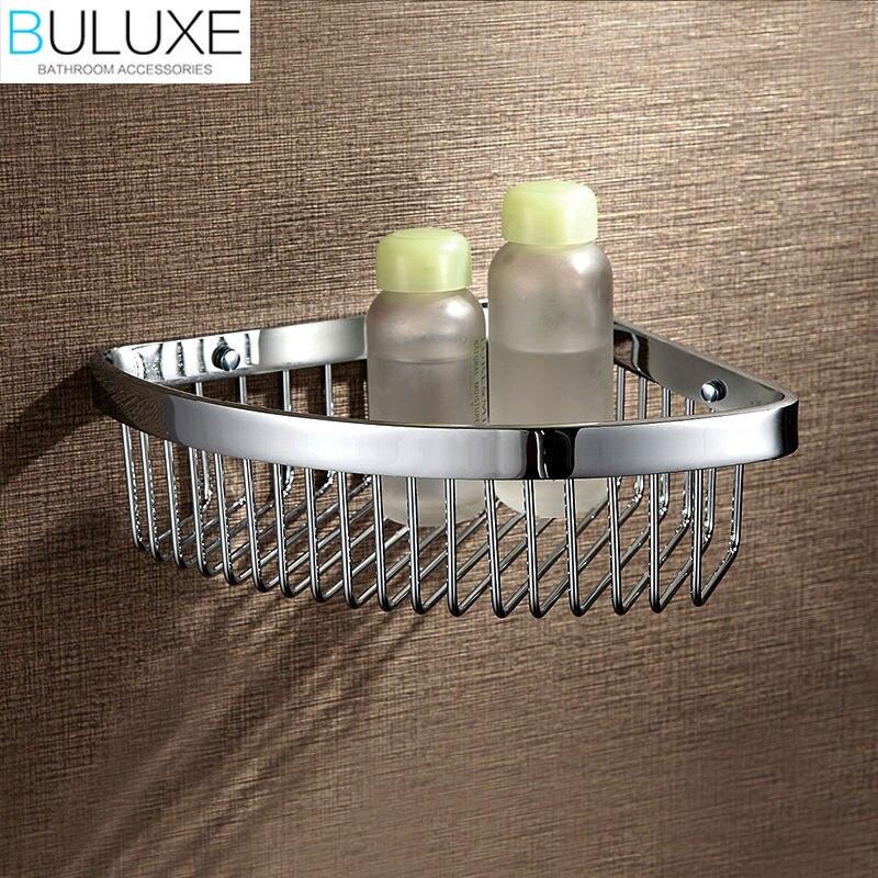 BULUXE Brass Bathroom Corner Shelf Wall Mounted Prateleira Bath Shelf Bathroom Accessories de banheiro HP7729BULUXE Brass Bathroom Corner Shelf Wall Mounted Prateleira Bath Shelf Bathroom Accessories de banheiro HP7729
