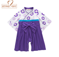 Nyan Cat Baby Girls Cotton Print Japanese Kimono Cute Rompers Infant Bebes Long Sleeve Coveralls Baby