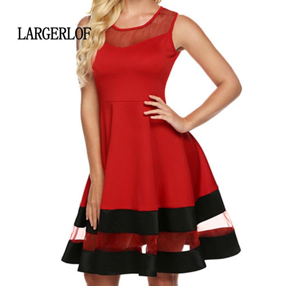 D'été Pour noir rouge Robe Femme Slim Ds450025 Largerlof Gaze Beige Élégant Doux Et Frais zF748