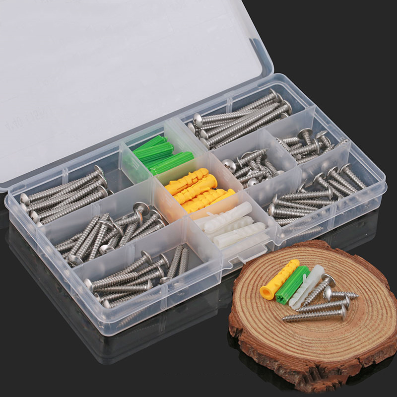 home improvement diy stainless steel large flat head self tapping screws with screw box hard. Black Bedroom Furniture Sets. Home Design Ideas