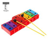 MagiDeal 1 Set 8 Tones Polychrome Xylophone Glockenspiel DIY Sound Brick Rhythm Toys for Children Music Enlightenment Toys