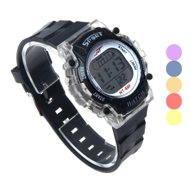 HF 2018 Colorful LED Electronic Sports Watch Gift relogio masculino Uhren reloje