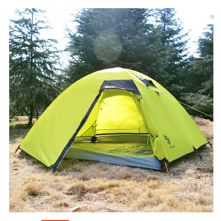 Authentic 3-4 Person Coating Waterproof Double Layer Camping Tents Aluminum Rod Portable High Mountain Outdoor Tent PU3000mm