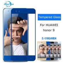 Стекло на huawei honor 9 honor 9 Защитный glas закаленное Стекло STF-L09 полное покрытие защита Экран протектор 2.5D 9 H защитить фильм