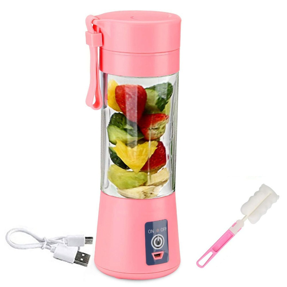 400ml Portable Juice Blender USB Juicer Cup Multi function Fruit Mixer Six Blade Mixing Machine Smoothies Baby Food dropshipping