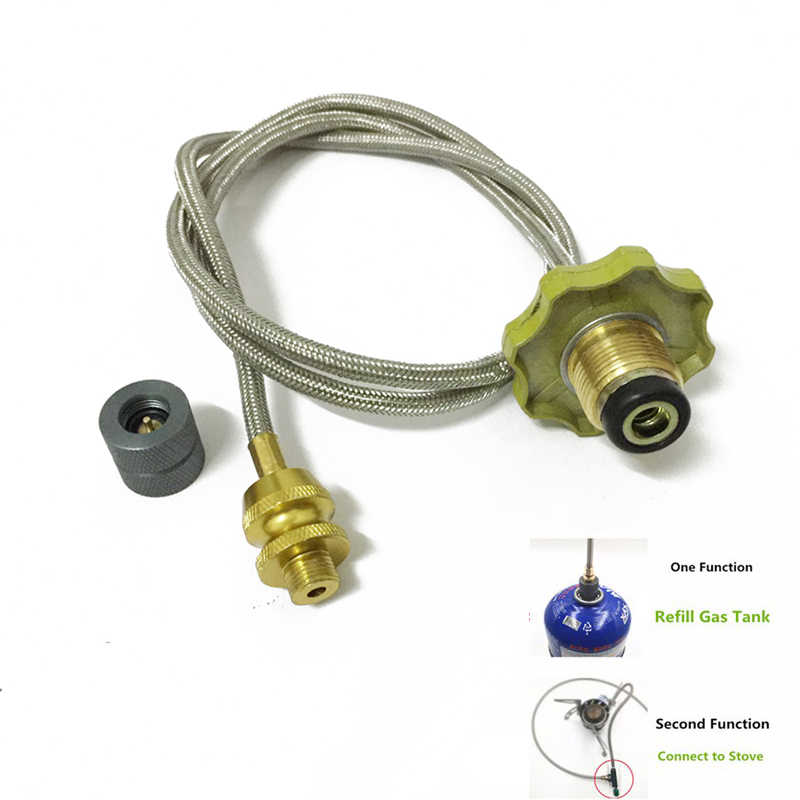 Head Adapter Gas Tank Propane Refill Flat Cylinder Connector For Home Kitchen
