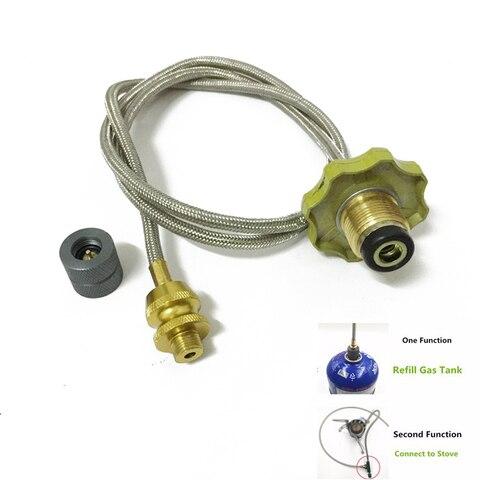 multifuncoes acampamento fogao a gas propano recarga adaptador acoplador adaptador vasilha fogao a gas gpl