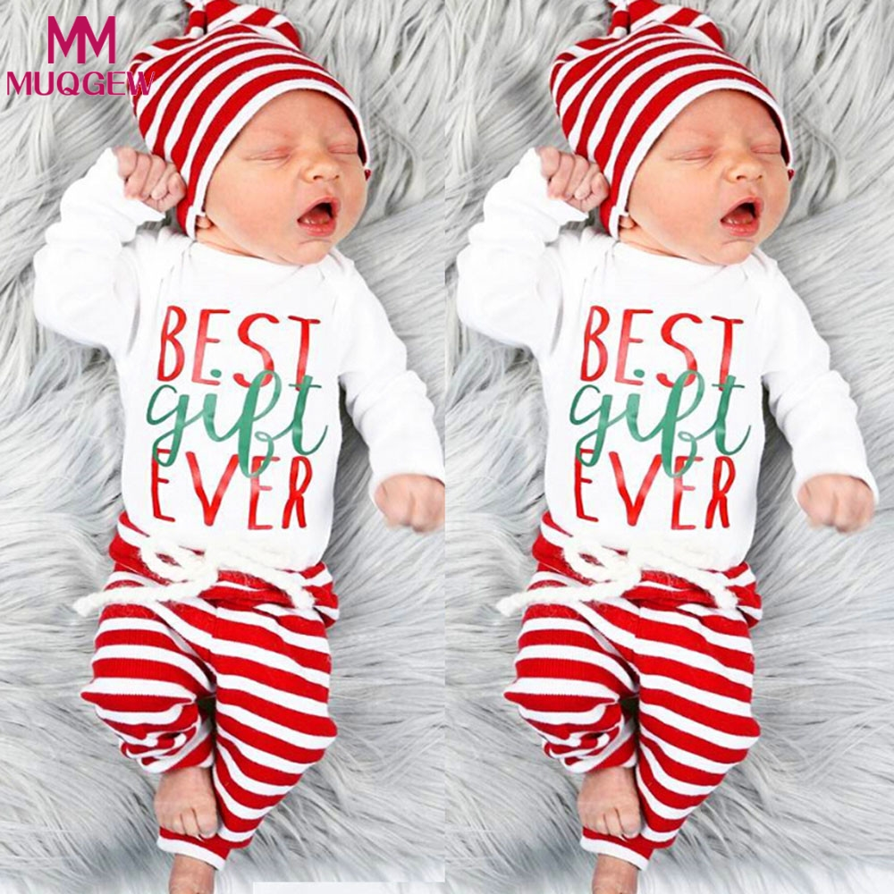 2a317870c3e1 2018 Christmas Festival Newborn Baby Boys Girls Long Sleeve Letter ...