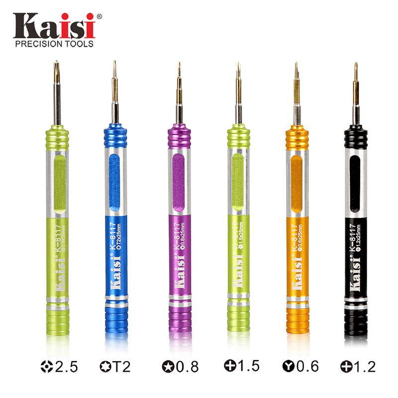 Kaisi Precision Magnetic Screwdriver Multifunctional Repair Tools For IPhone 6 7 8 Phillips Torx Hex Y-Type Pozidriv K-8117