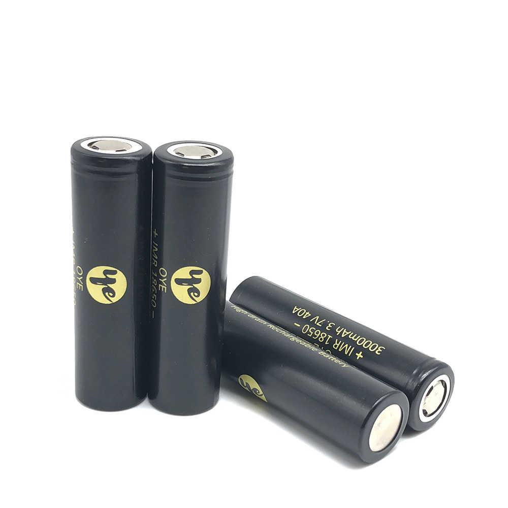 2 pin 18650 40A 3000 mAh Cao Cấp Xả 40A Sạc Li-ion 3.7V lithium pin cho đèn pin đội đầu dụng cụ e-cig