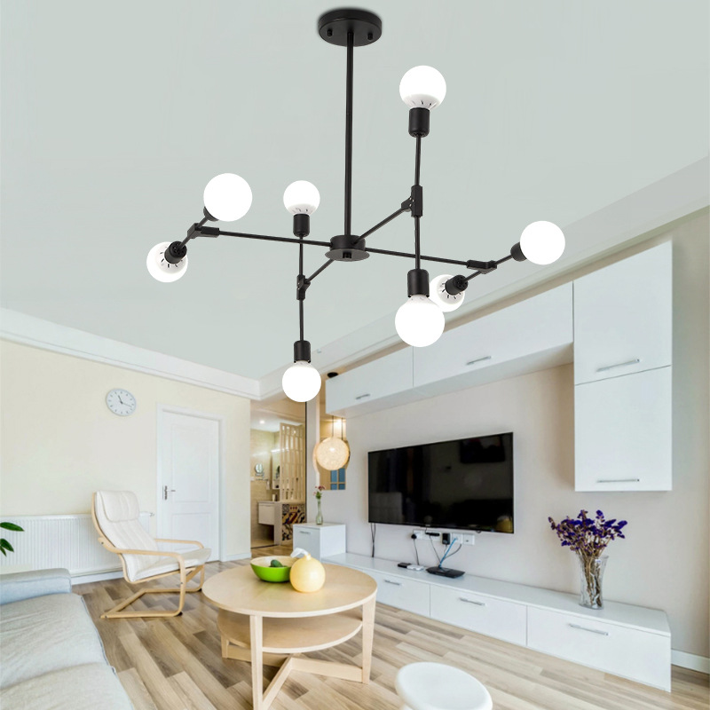 6/8/10 Heads Nordic Creative Modern Simple Restaurant Pendant Light Livingroom Bedroom Cafe Bar Decoration Lamp Free Shipping modern simple retro industrial style ceiling light livingroom bedroom restaurant cafe decoration lamp free shipping