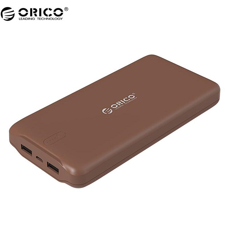 ORICO D20000 Power Bank 20000mAh Scharge Polymer Power Bank Portable External Battery For samsung huawei xiaomi & Tablets