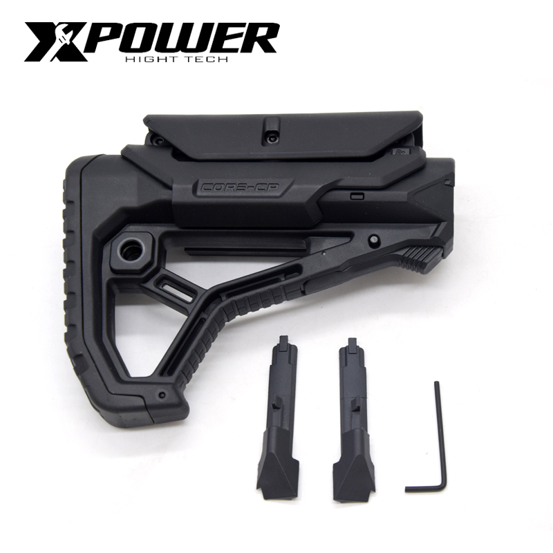 XPOWER FAB Stock GL-CORE Style For Gel Blaster Paintball Airsoft Accessories AEG Gen9 Gearbox Receiver Hunting