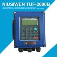 Новые профессиональные ультразвуковой расходомер Настенный Жидкости IP67 защиты тестер TUF 2000B высокая точность потока измеритель преобразов