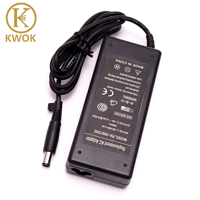 19V 4.74A 7.5x5.0mm Laptop AC Adapter Charger For <font><b>hp</b></font> Laptop G4 DV3 DV4 DV5 DM4 510 530 2510p 2710p <font><b>6510b</b></font> 6515b 6710b 6715b 6910p image