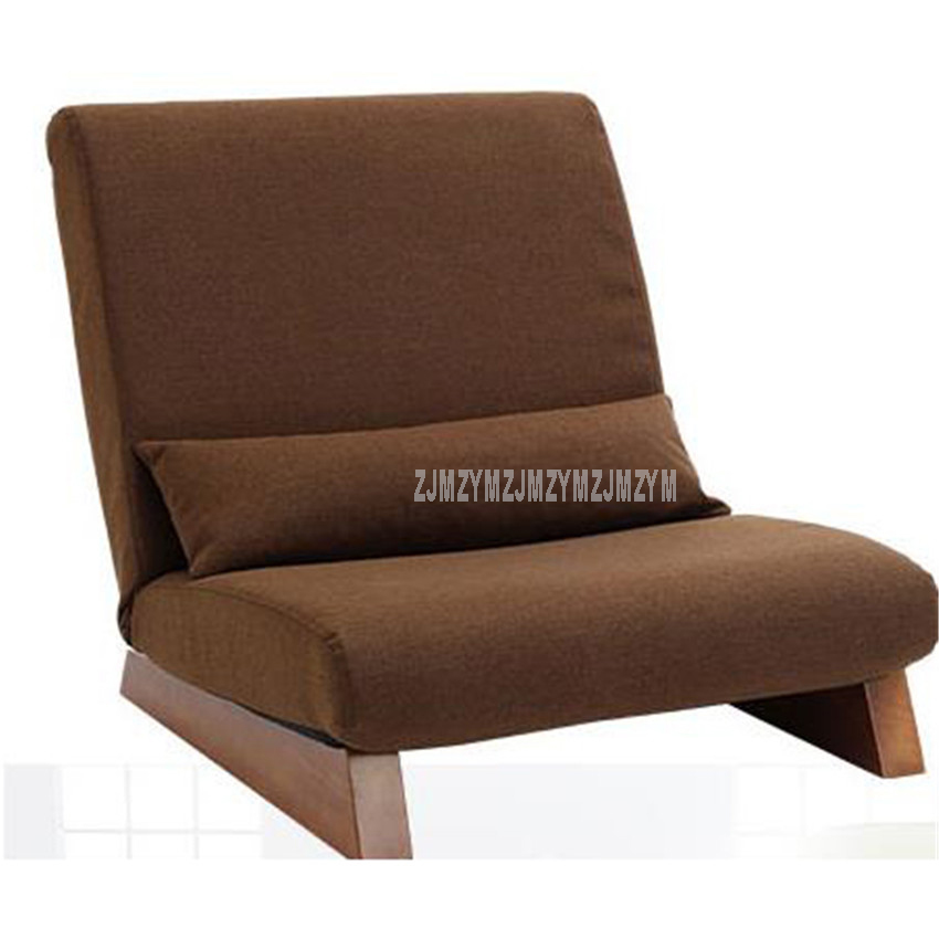 Floor Folding Single Seat Sofa Bed Modern Fabric Japanese Living Room Chair Furniture Armless Reading Lounge Recliner ChairFloor Folding Single Seat Sofa Bed Modern Fabric Japanese Living Room Chair Furniture Armless Reading Lounge Recliner Chair