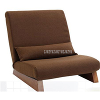 Floor Folding Single Seat Sofa Bed Modern Fabric Japanese Living Room Chair Furniture Armless Reading Lounge Recliner Chair