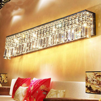 Staircase Light Crystal Wall Lamp Modern Bedroom Bedside Aisle led Lights Hotel Wall Sconce Decorative led Crystal Light Sconces