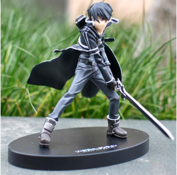 Hot Anime Cool 6.2 Sword Art Online S.A.O Kirito PVC Action Figure Model Collection Toy Men Christmas Gift Free Shipping free shipping super big size 12 super mario with star action figure display collection model toy