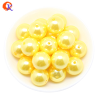 Free Shipping A02 20mm Yellow Color ABS Pearl Beads Chunky Beads Gumball Beads 110pcs Lot