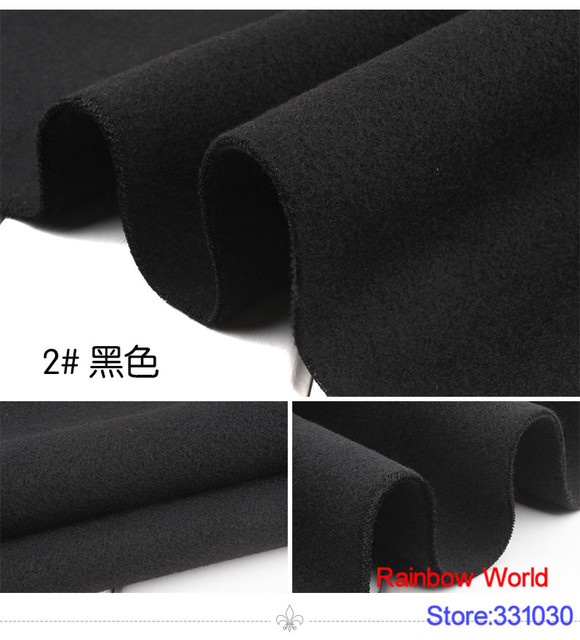 Meter Double Brushed Middle Thick Cloth Fabric For Diy Colthes Dress Overcoat