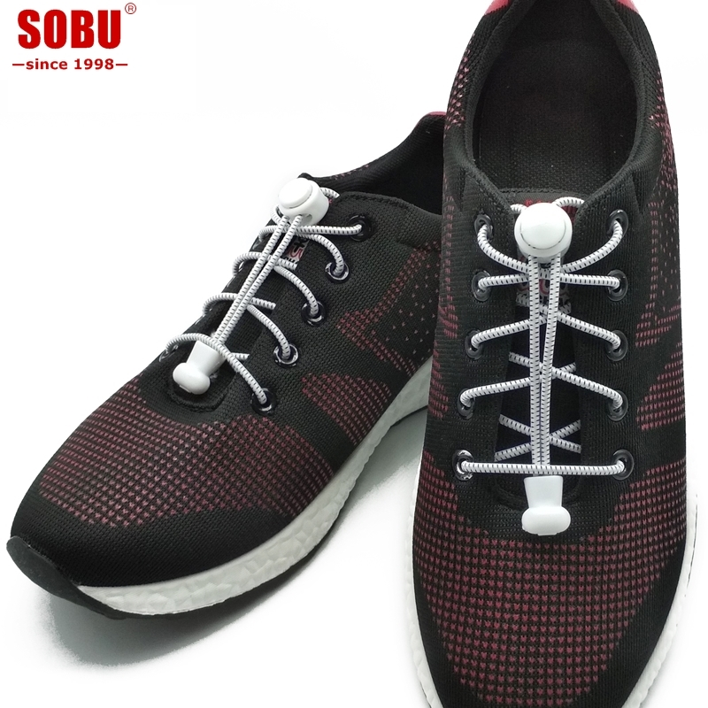 SOBU No Tie Locking Round Shoe Laces Elastic Lock Lace System Lock Sports Shoelaces Runners  T004SOBU No Tie Locking Round Shoe Laces Elastic Lock Lace System Lock Sports Shoelaces Runners  T004