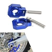 Motorcycle CNC Rear Axle Blocks Chain Adjuster For Husaberg Husqvarna TE FE TC FC 125 250