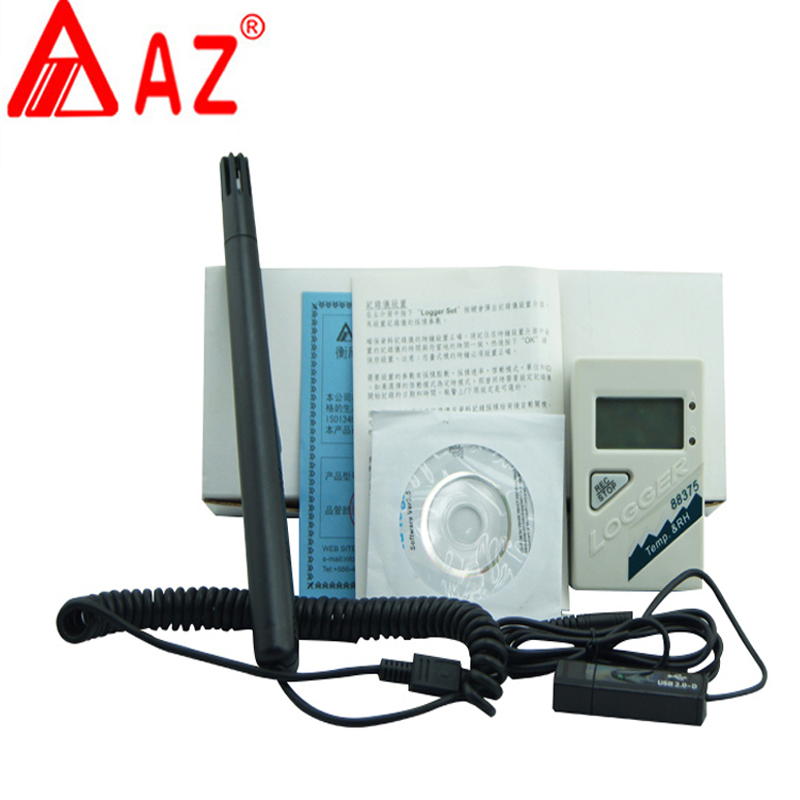 AZ88375 Temperature and Humidity Logger usb temperature recorder Led Display, Temperature Logger ,humidity data logger цена
