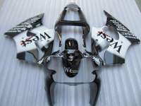 100 Fit For Kawasaki Injection Mold Ninja ZX6R 00 01 02 White Black Fairings Set ZX6R