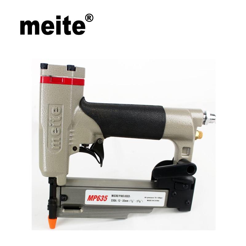 Meite AIR MP635 23 Jauge 1 3/8 air Micro pinner cloueuse pistolet pour 12-35mm diamètre 0.63mm sans tête broches pistolet Apr.17. mise à jour outil