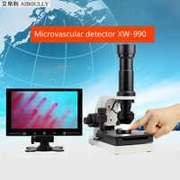 FGHGF XW-990 naczyń włosowatych instrument diagnostyczny patologii medycznej analizy sprzęt naczyń włosowatych detektor cyklu Zoom in 200 razy
