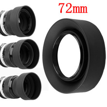 10pcs/lot 72mm 3 Stage 3 in1 Collapsible Rubber Foldable Lens Hood 72 mm DSIR Lens for canon nikon Sony Pentax Fujifilm camera