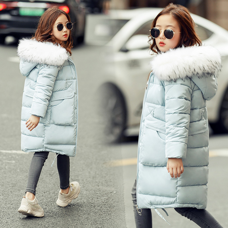 wear down jacket duck down jacket in winter new Korean version of the middle and long-length hooded girls padded down jacketwear down jacket duck down jacket in winter new Korean version of the middle and long-length hooded girls padded down jacket