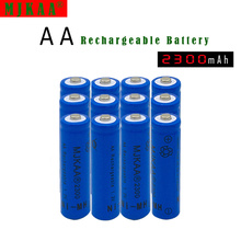 12pc a lot Ni-MH 2300mAh AA Batteries 1.2V AA 7# Rechargeable Battery NI-MH battery for camera,toys pisen 2300mah ni mh rechargeable aa batteries green 2 pcs