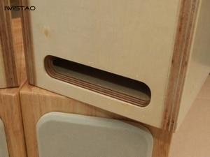 Image 5 - IWISTAO HIFI Labirinto 4 Pollici Full Range Speaker Vuoto Contenitore compensato di Pioppo o In Legno Massiccio 15 millimetri di Spessore Bordo