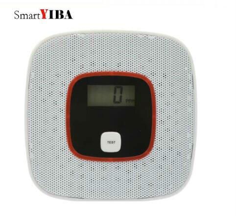SmartYIBA alta pantalla LCD sensible Sensor de monóxido de carbono envenenamiento Gas CO para la protección del hogar independiente detectores de CO alarma