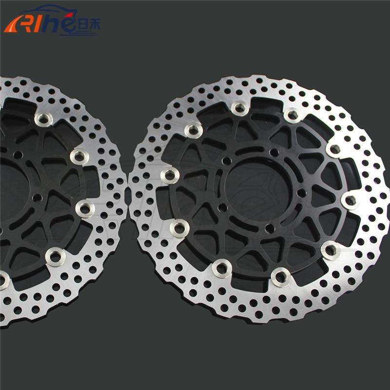 latest style motorcycle front brake disc roto For KAWASAKI ZX10R 1000CC model year 2008 2009 2010 2011 2012 2013 2014 компрессорное масло roto injekt fluid в челнах