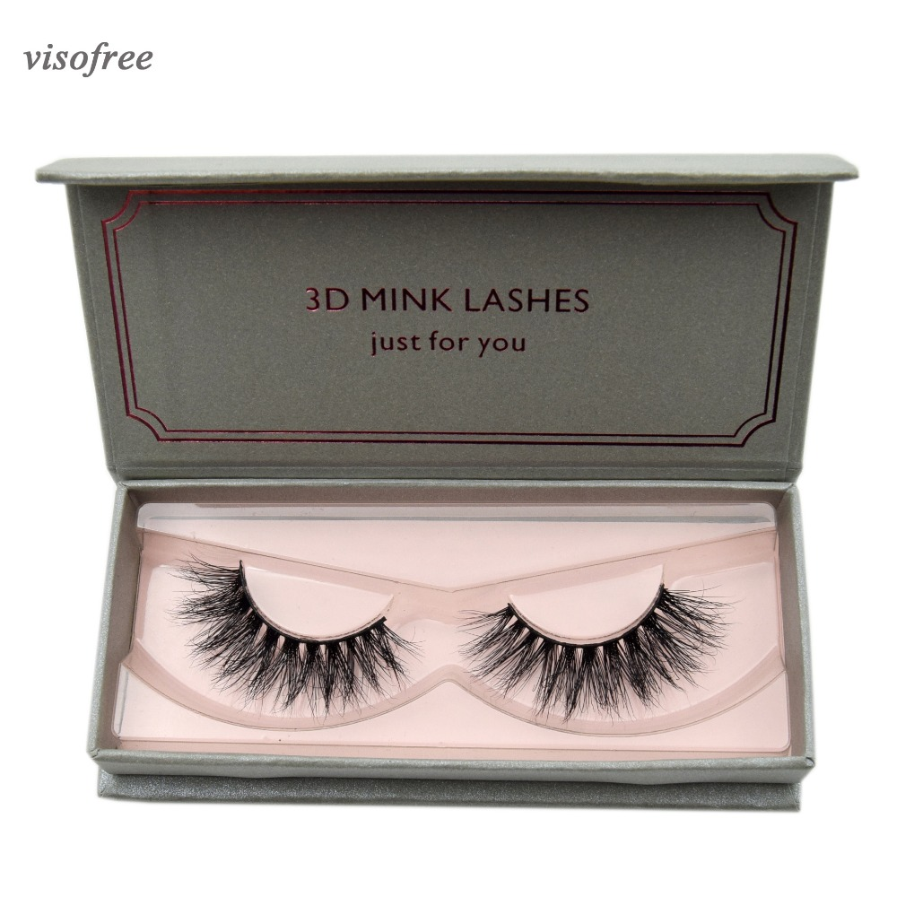 Visofree 1 Pair 3D False Eyelashes Full Volume Mink Lashes Lightweight Soft Lashes Eyelash Extension Natural Long Mink Eyelashes