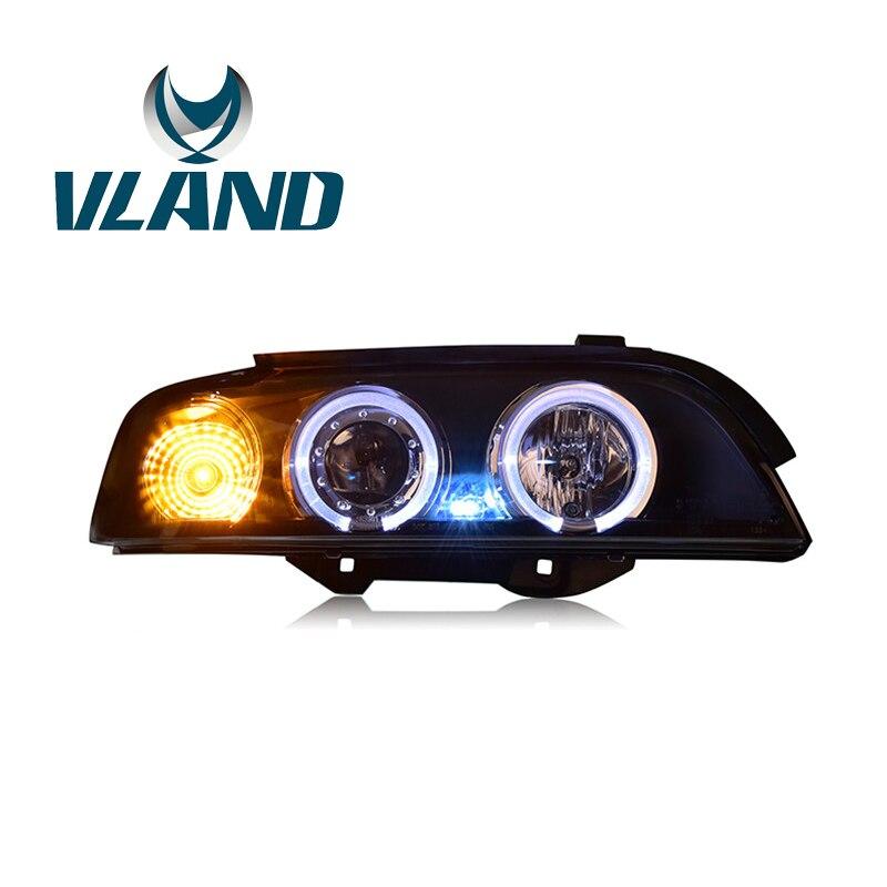 VLAND usine pour phare de voiture pour E39 phare 1995-2003 pour 520 525 530i LED phare H7 xénon lentille HID + xénon ou LED ampoule
