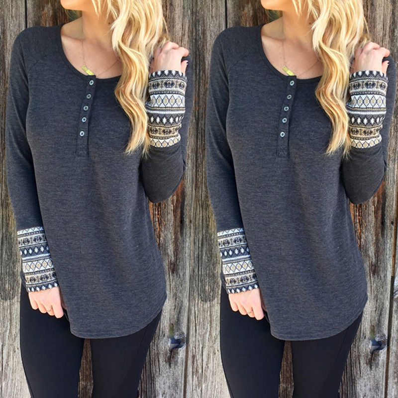 Ladies Womens Button Through Long Sleeve Baggy Sweater Jumper Tops Cardigan 6-16