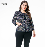 TUHAO 2019 Spring 4XL 5XL 6XL Plus Size WOMEN Blouses Shirt Woman Big Size Office Lady Cardigan Blouse Shirt Feminina Tops ZPZ