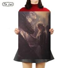 Corbata LER de Juego de tronos Poster papel Kraft clásico cartel Bar Café decorativo cuadro adhesivo para pared 50.5X35cm