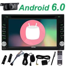 Free camera+double 2 din Android 6.0 car DVD stereo gps player din car headunit bluetooth navigation wifi Steering wheel control